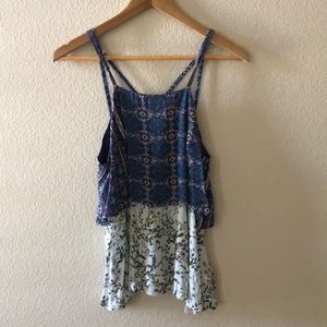 Floral Tank Blouse Size Small
